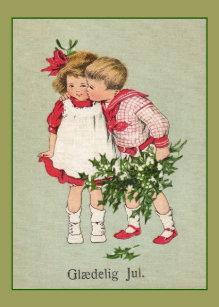 Danish christmas cards zazzle uk vintage danish gldelig jul christmas card m4hsunfo