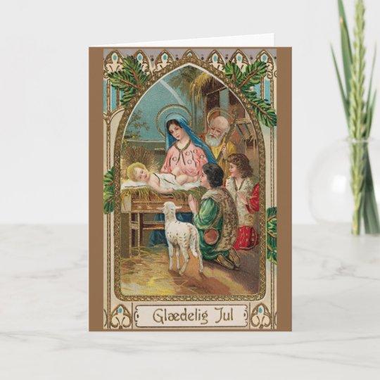 Religious Christmas Cards Uk.Vintage Danish Religious Christmas Greeting Card