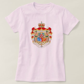 Vintage Danish Royal Coat of Arms of Denmark T-Shirt