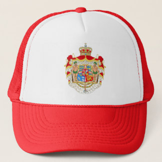 Vintage Danish Royal Coat of Arms of Denmark Trucker Hat