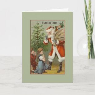Danish christmas cards zazzle uk vintage danish santa gldelig jul christmas card m4hsunfo