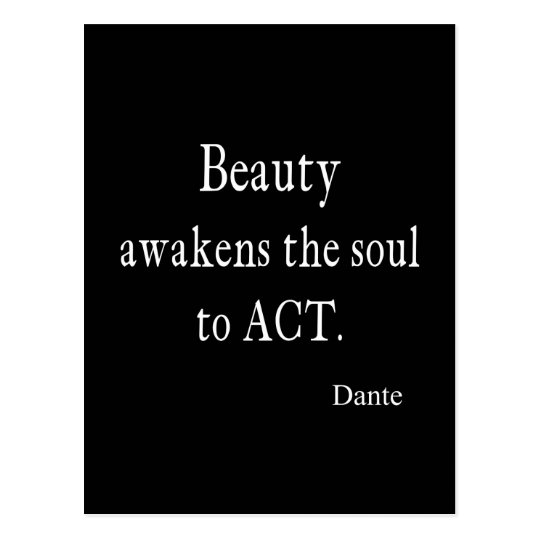 Vintage Dante Beauty Awakens the Soul Quote Postcard