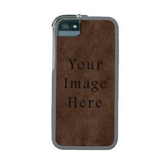 Vintage Dark Brown Espresso Parchment Paper Cover For iPhone 5/5S