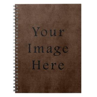 Vintage Dark Brown Espresso Parchment Paper Notebook