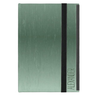 Vintage Dark Green Metallic Look iPad Mini Case