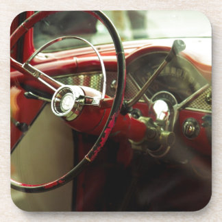 Vintage dashboard drink coasters