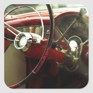 Vintage dashboard square stickers