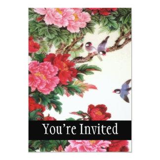 Vintage Dawn Of Spring Japanese Artwork 13 Cm X 18 Cm Invitation Card