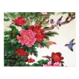 Vintage Dawn Of Spring Japanese Artwork Postcard