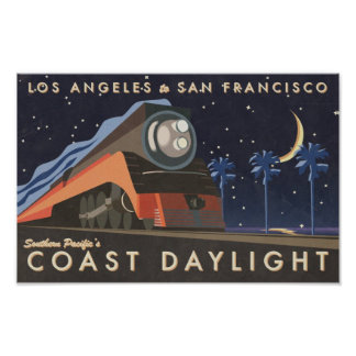 Vintage Daylight Travel Poster