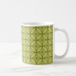 Vintage Dazzle Mug, Lime Green Basic White Mug