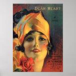Vintage Dear Heart Poster