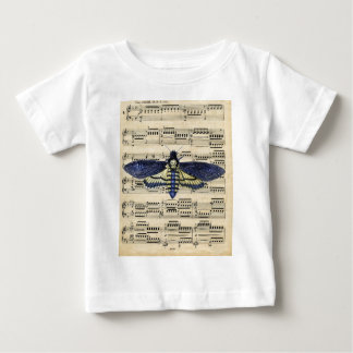 Vintage death moth music sheet mixed media baby T-Shirt