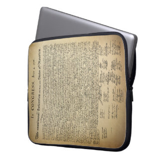 Vintage Declaration of Independence Laptop Sleeve