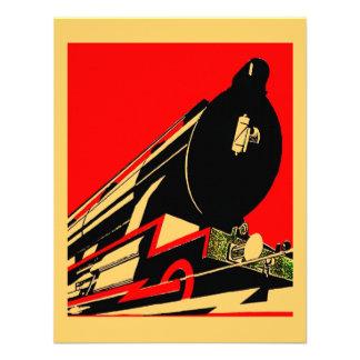 Vintage Deco Locomotive We ve Moved Announcements