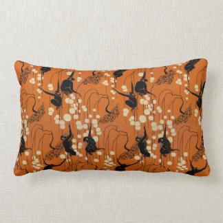 Vintage Deco Moderne Monkeys Lumbar Cushion