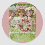 Vintage Decoration Day Girls Stickers