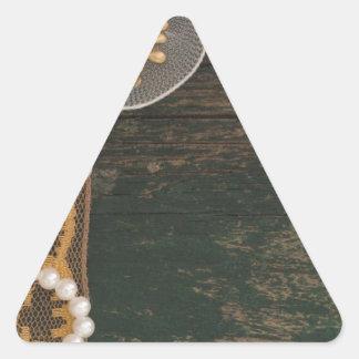 vintage decoration triangle sticker