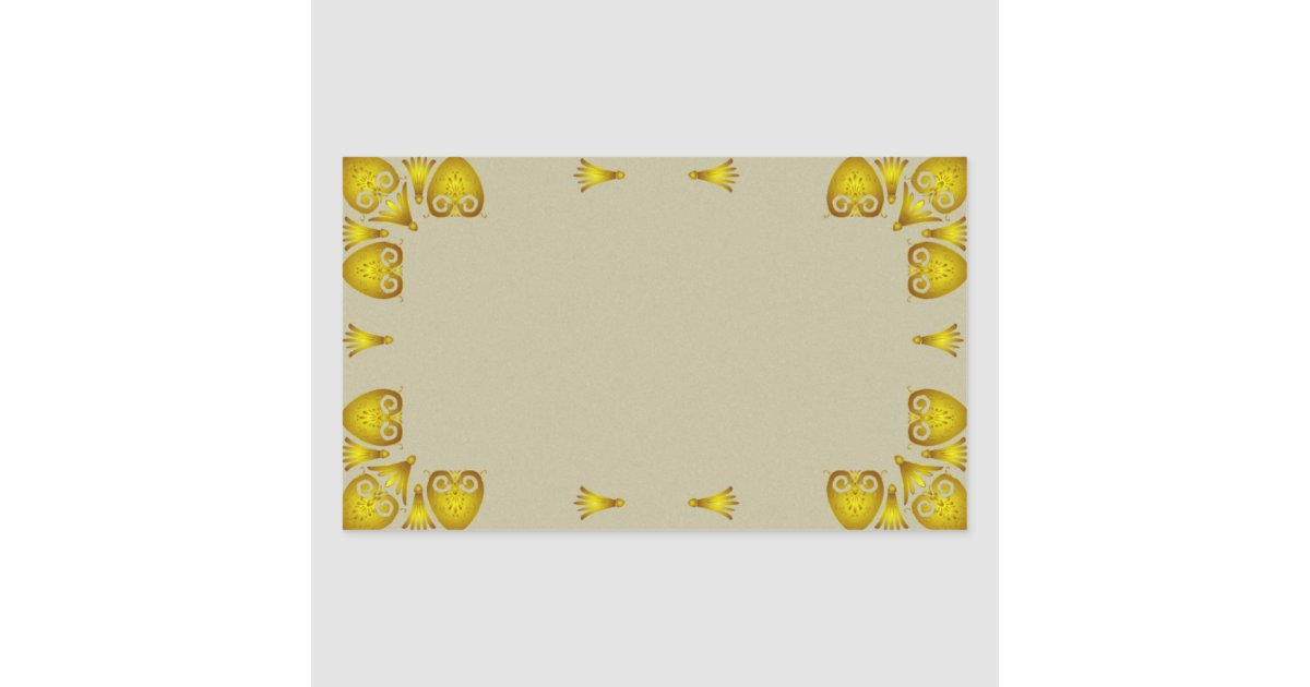 Vintage Decorative Gold Border Label Sticker