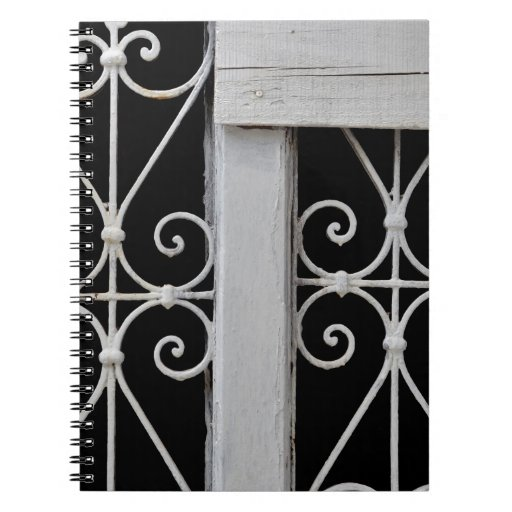vintage decorative metal pattern note books
