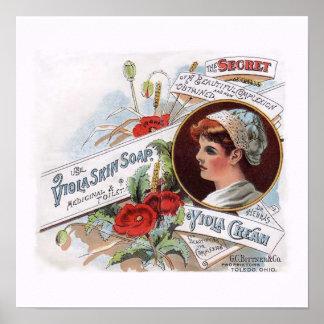 Vintage Decorative Poster - Viola Skin Soap