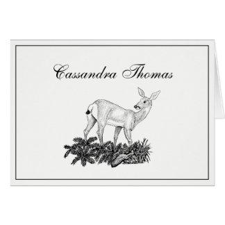 Vintage Deer #1 Frame H Card