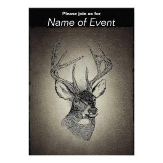 Vintage deer art graphic cards