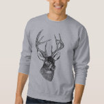 Vintage deer art graphic sweatshirt