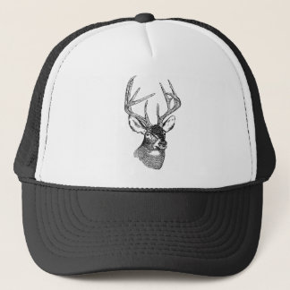 Vintage deer art graphic trucker hat