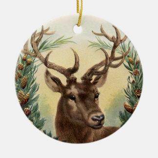 Vintage Deer Christmas Ornament