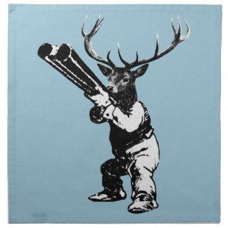 vintage deer hunting napkin