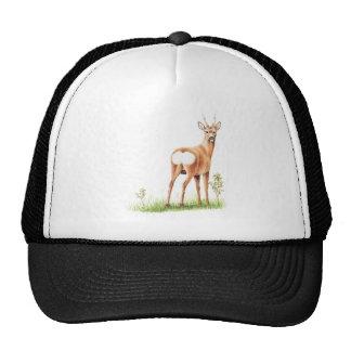 Vintage Deer Illustration - Cute Animal Cap