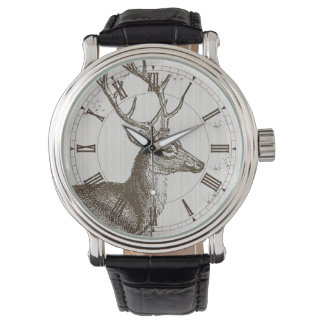 Vintage Deer Stag Hunter Watch