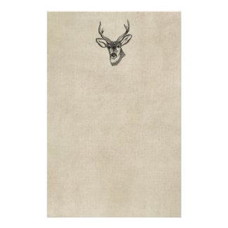 Vintage Deer Stationery