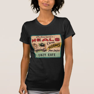 Vintage Delicious Meals Clean Rooms Home Comforts T-Shirt