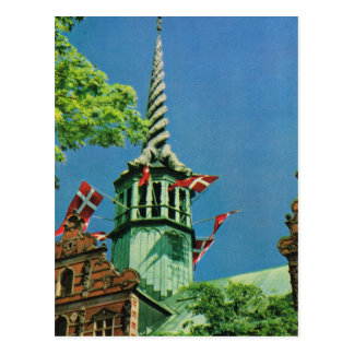 Vintage  Denmark, Copenhagen Stock Exchange, Postcard