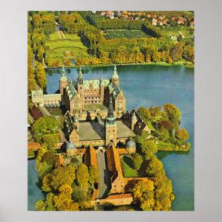 Vintage  Denmark, Frederiksburg Castle Poster