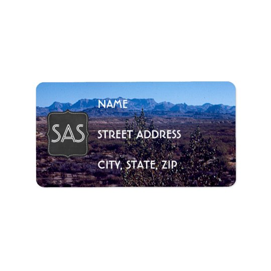 Vintage Desert Landscape Return Address Labels
