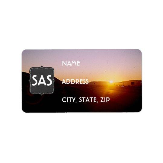 Vintage Desert Sunset Return Address Labels