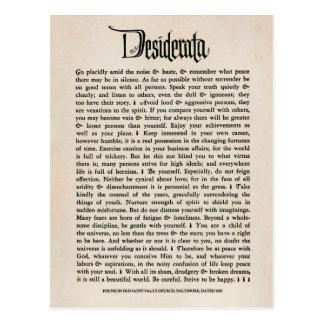 Vintage Desiderata - Postcard