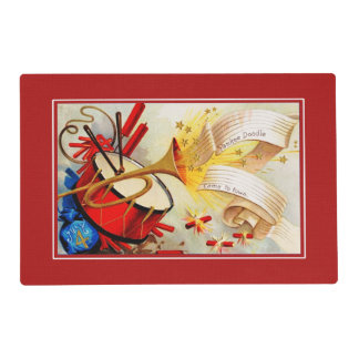 Vintage Design 4th of July Party Placemats Laminated Placemat