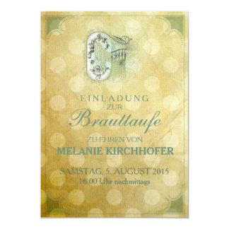 Vintage Design - Brauttaufe 13 Cm X 18 Cm Invitation Card