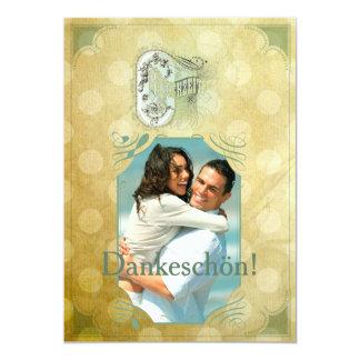 Vintage Design - Dankeskarte 13 Cm X 18 Cm Invitation Card