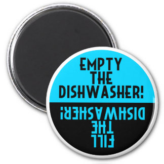 Vintage Design Dishwasher Round Magnet
