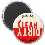 Vintage Design Dishwasher Round Magnet