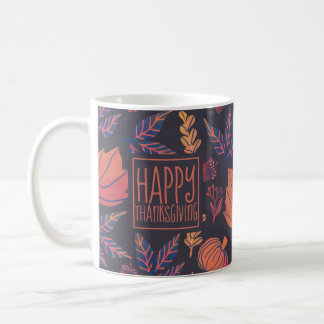 Vintage Design Happy Thanksgiving Frosted Mug