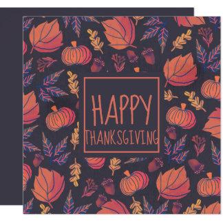 Vintage Design Happy Thanksgiving | Invitation