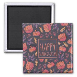 Vintage Design Happy Thanksgiving | Magnet