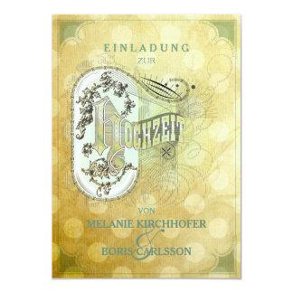 Vintage Design - Hochzeitseinladung 13 Cm X 18 Cm Invitation Card