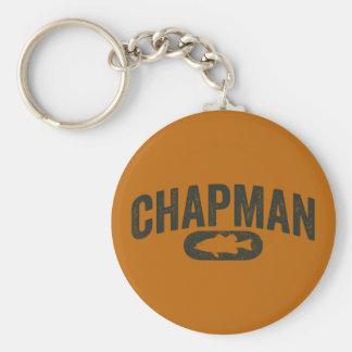 Vintage Design Orange - Chapman Bass Fishing Basic Round Button Key Ring